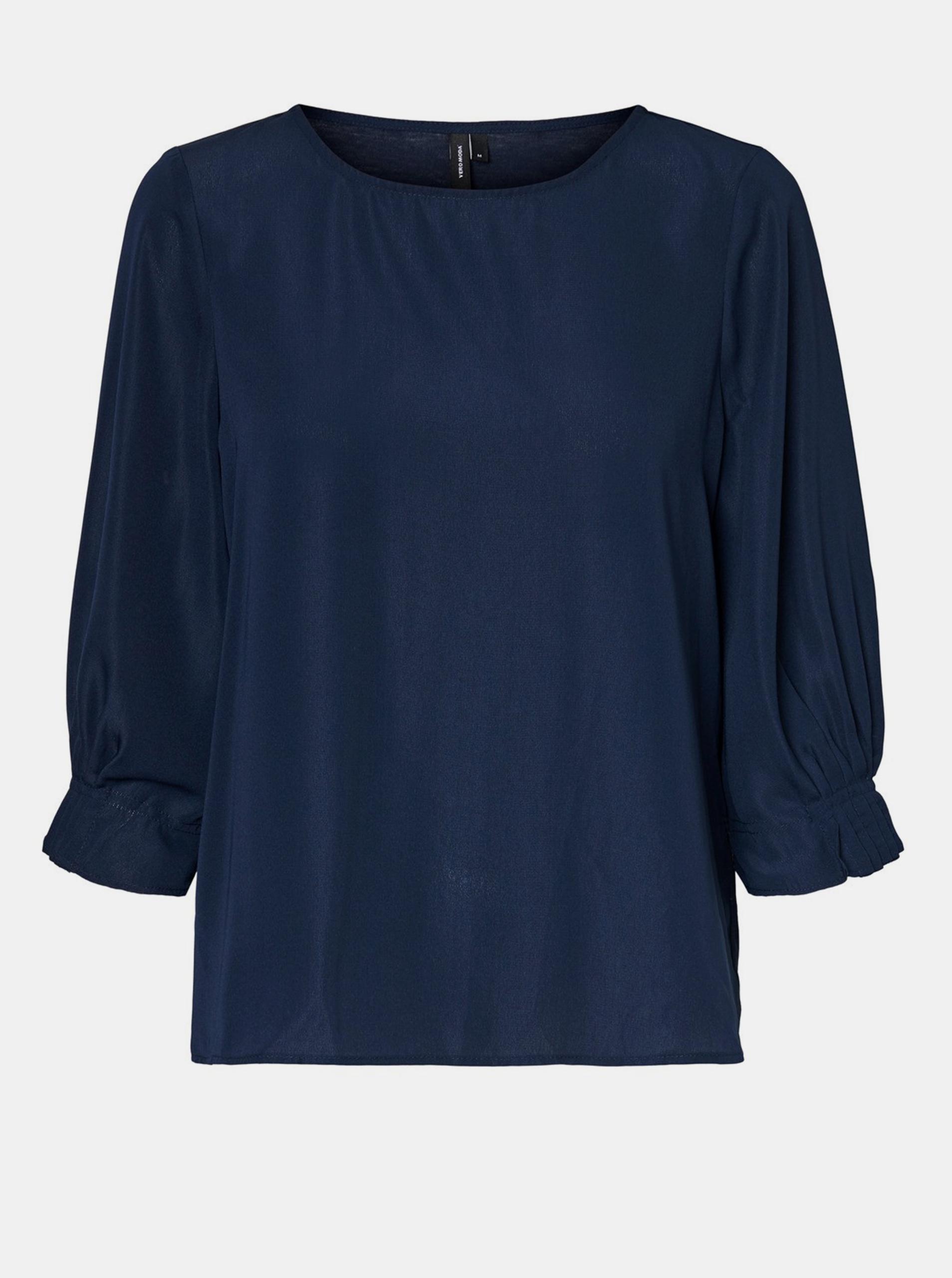 Temno modra ohlapna bluza VERO MODA Vonnie