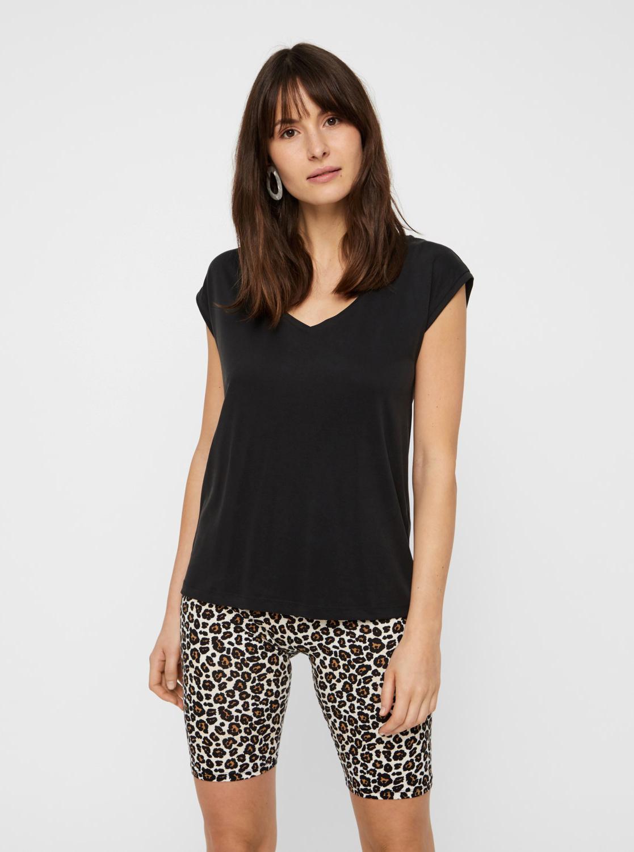 Črna osnovna majica Pieces Kamala
