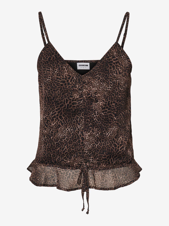 Črno-rjav vrh z leopardjim vzorcem znamke Noisy May Melina