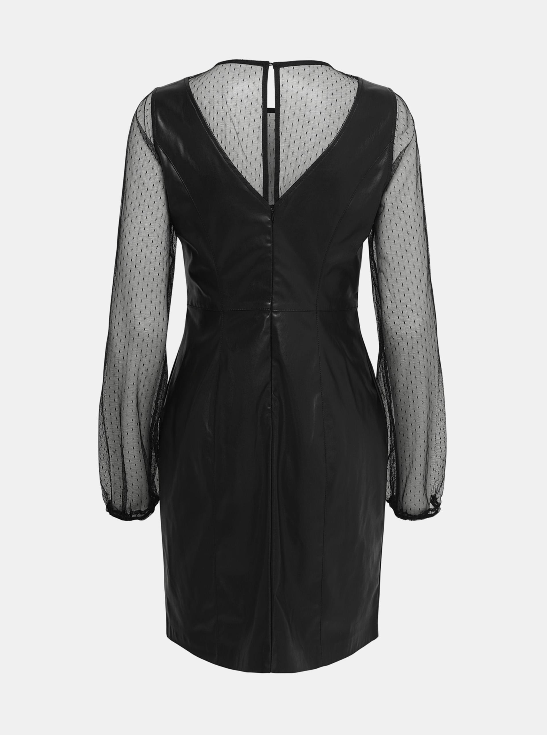 Črna obleka s SAMO britt zaključkom