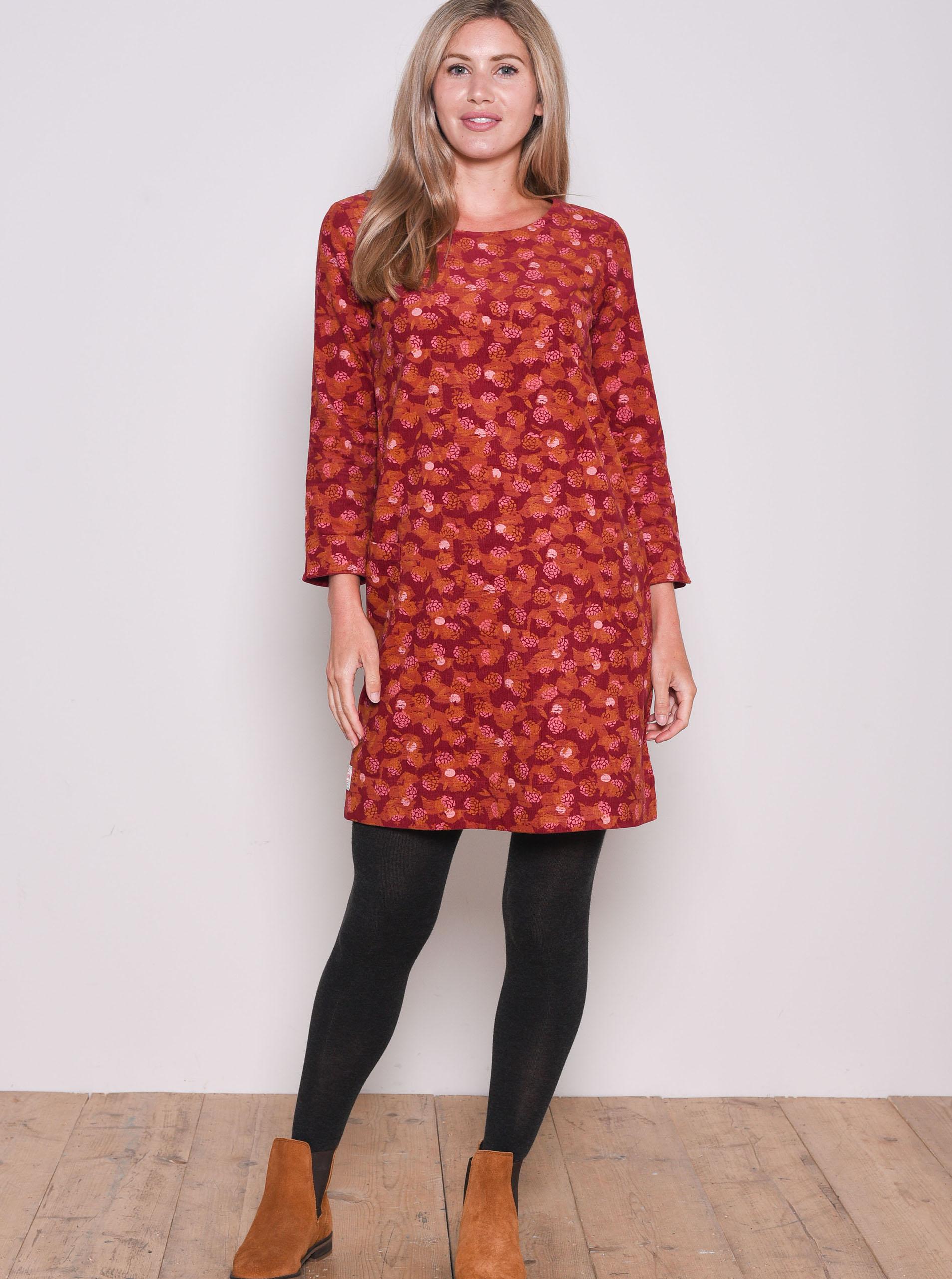 Rdeča obleka z vzorcem Brakeburn