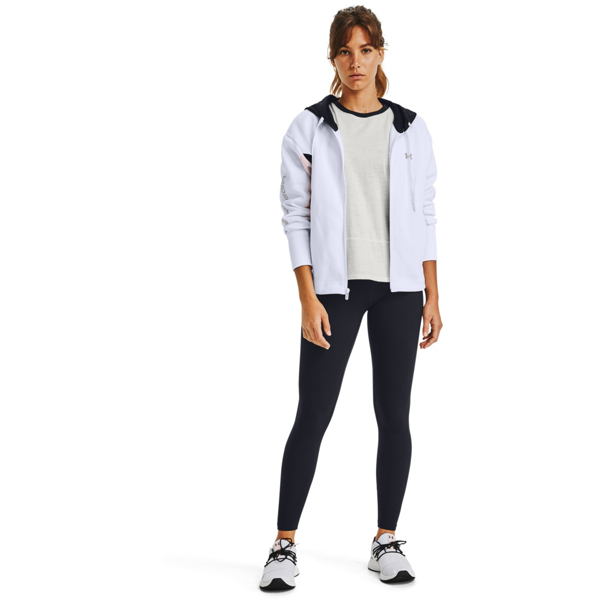 Jopa Under Armour UA Rival Flce EMB FZ Hoodie-WHT
