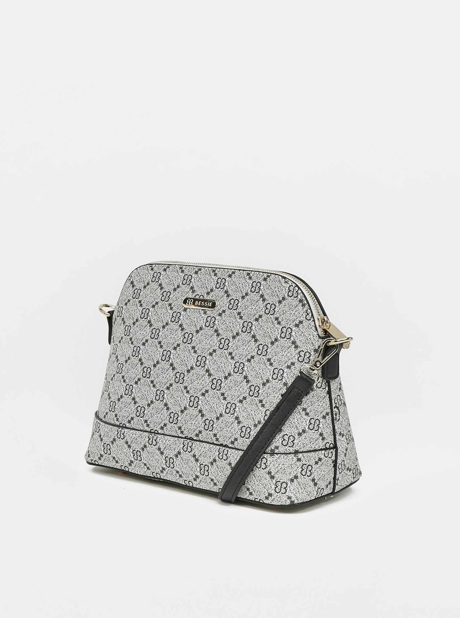 Siva torbica s torbico crossbody in denarnico Bessie London 3 v 1