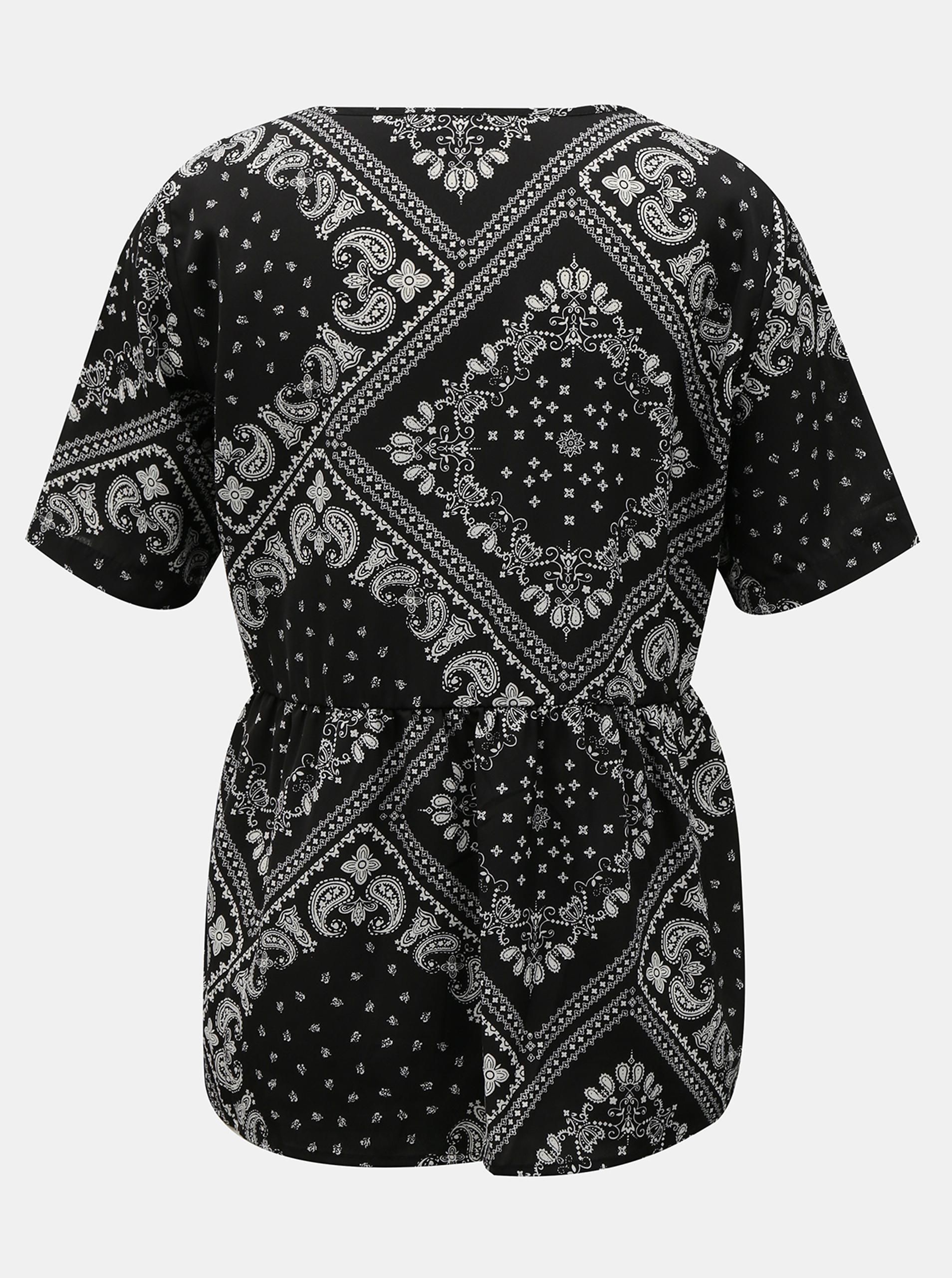 Črna bluza z vzorcem Noisy May Paise