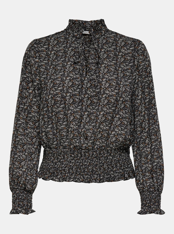 Črna bluza z vzorcem SAMO Assi