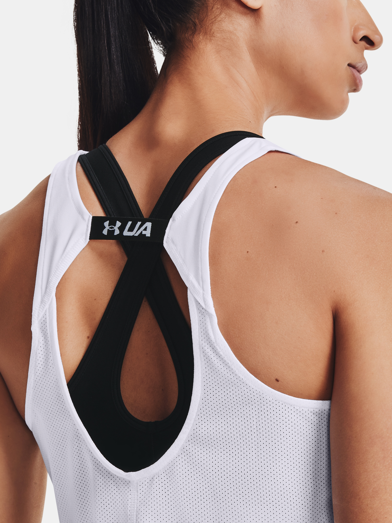 Top Under Armour UA Fly By Tank-WHT