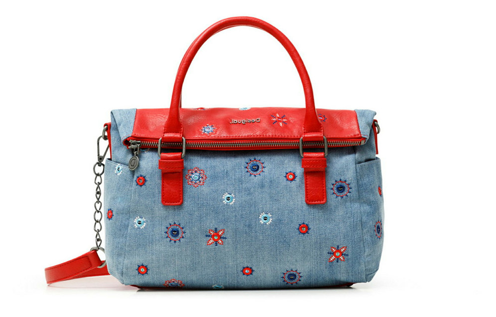 Desigual modra torbica Bols July Denim Loverty