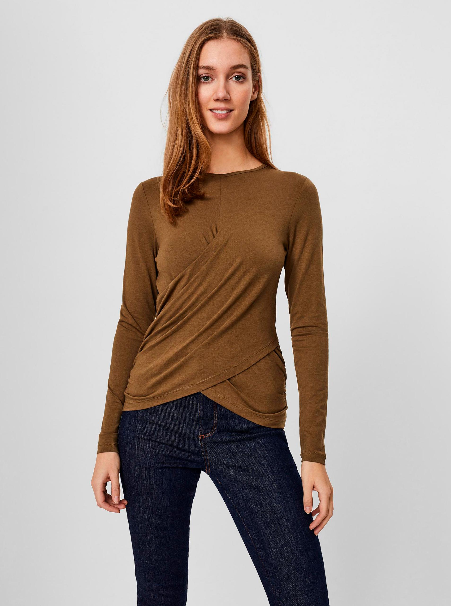 Vero Moda rjava majica