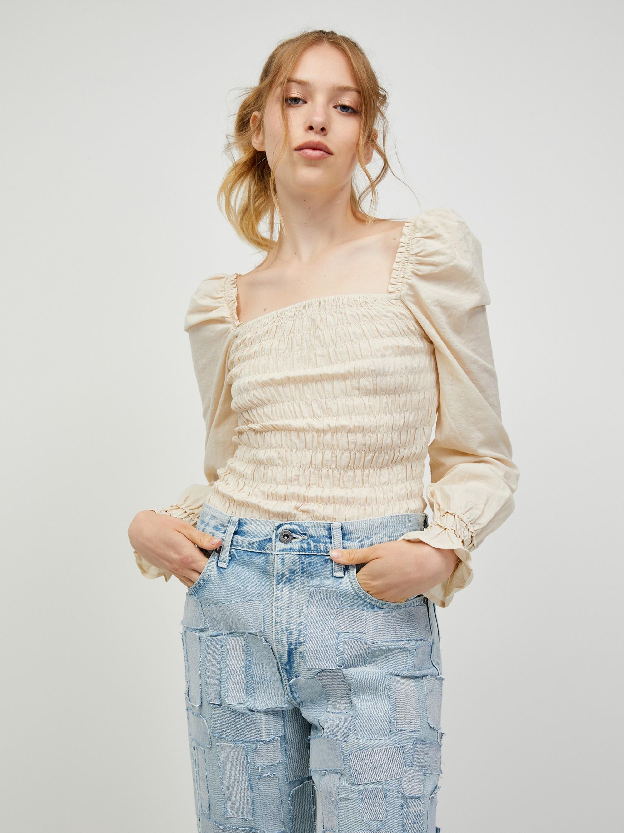 Vero Moda krem bluza Doro