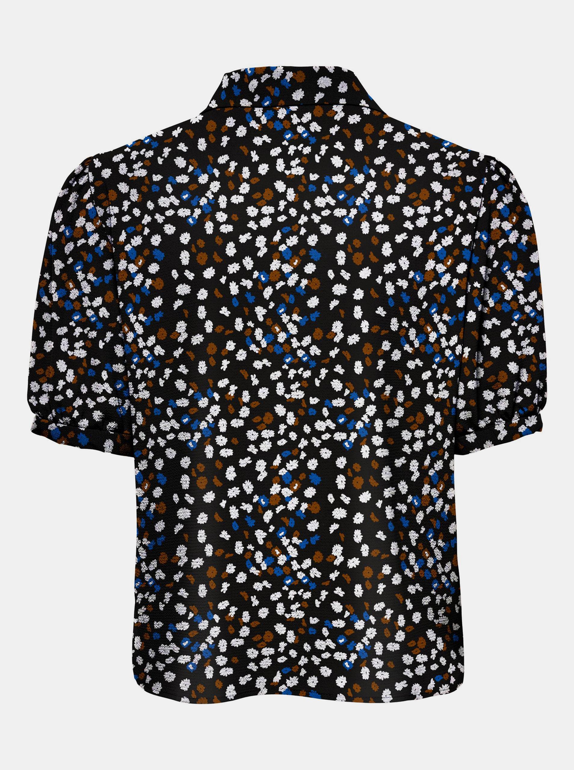Only črna ženske bluza Nova z vzorcem