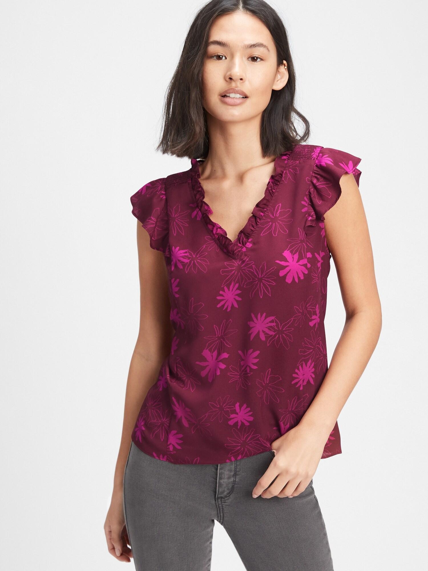 GAP vijolična ženska majica