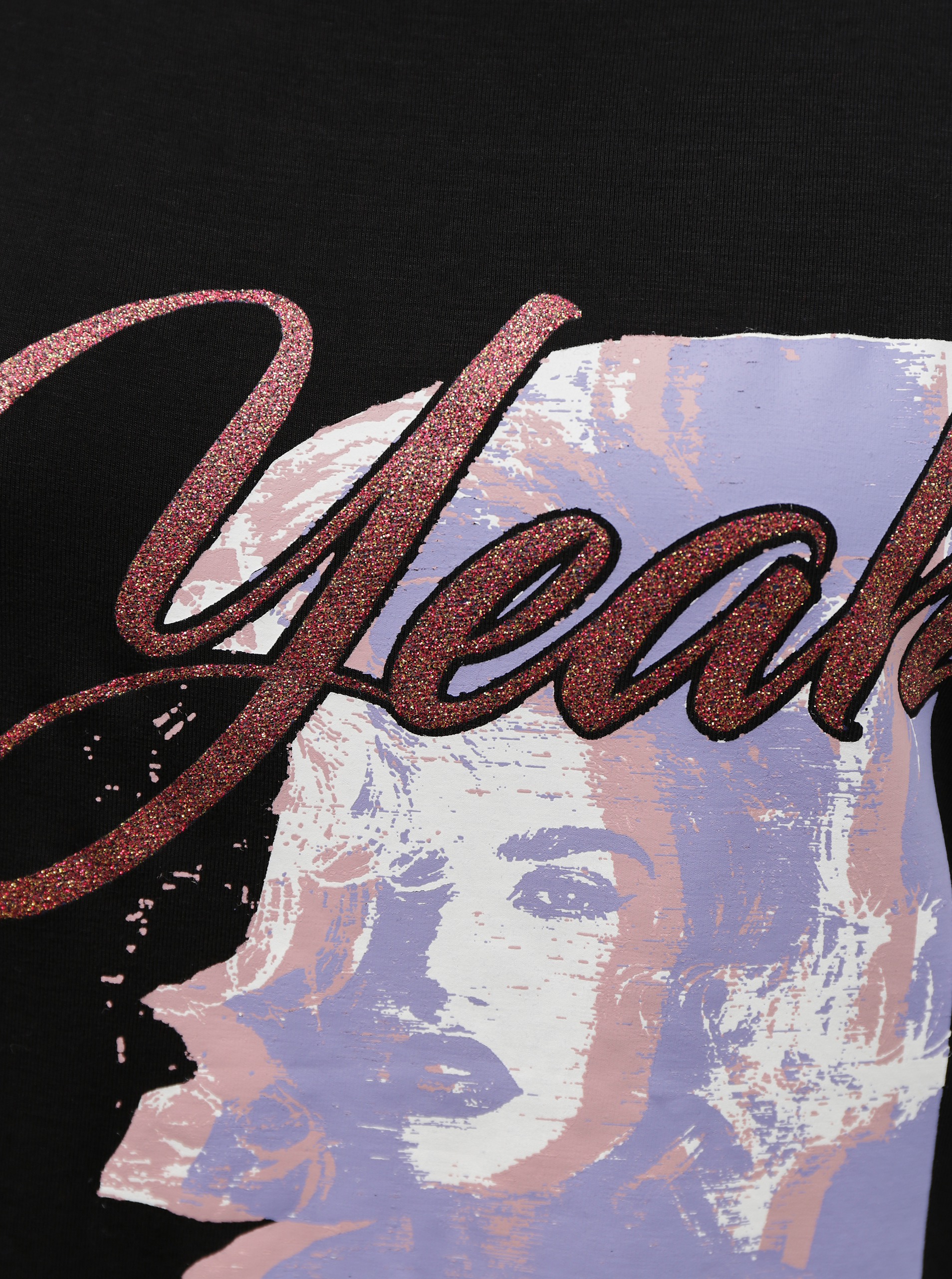 Guess črna majica Leona Tee
