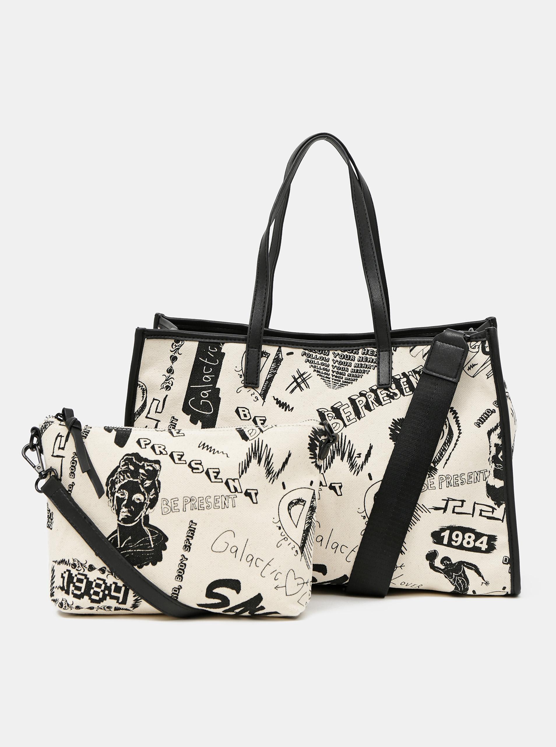 Desigual krem torbica
