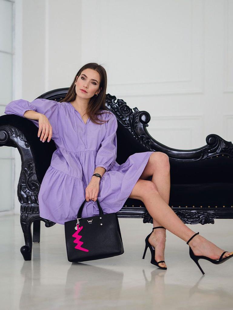 Vuch črna torbica Jenny